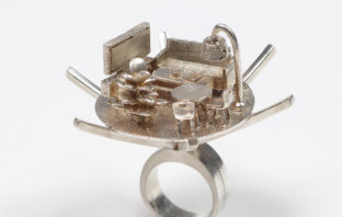 living room ring in 3d printing at the museum of Islamic art in jerusalem
