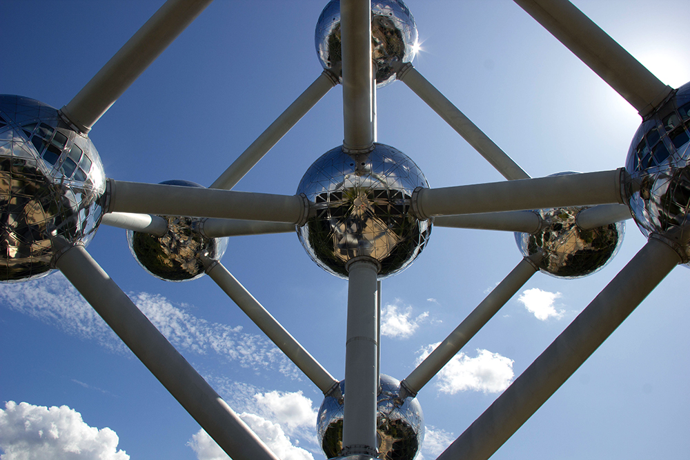 פסל האטומיום בבריסל, בלגיה