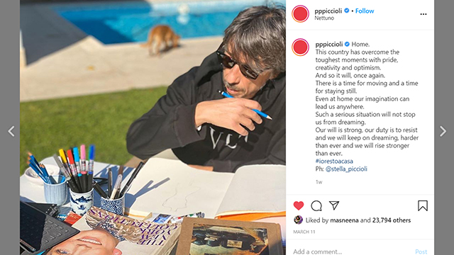 Pierpaolo Piccioli talks about creativity and optimism
